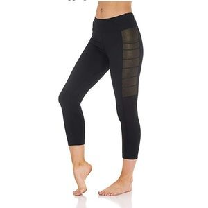 Pants - Silver Shine Side Panel Flex Leggings